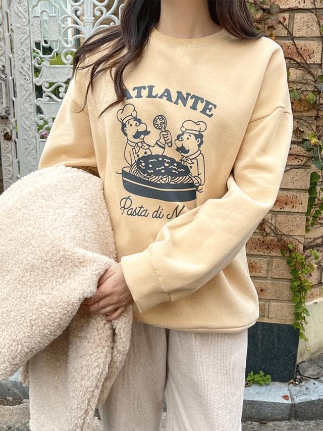 Big Size 55-120 Sweatshirt Printing Over Fit Fleece-lined Sweatshirt