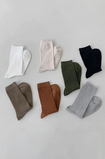 basic Ribbed long Socks