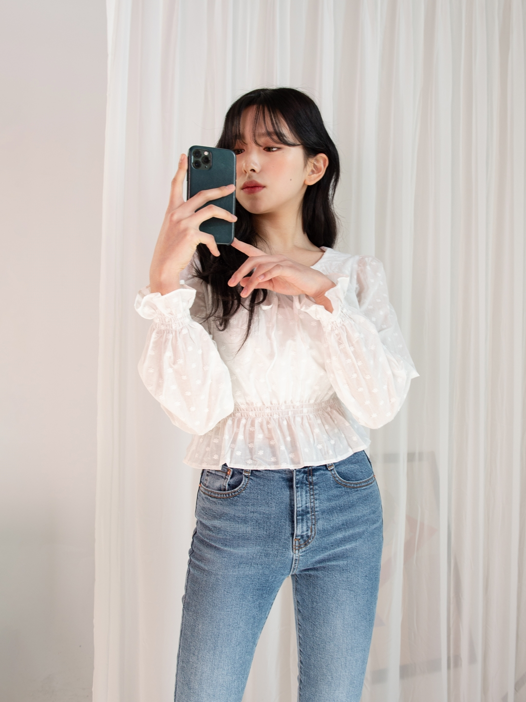 ESSAYFloral Embroidered Blouse