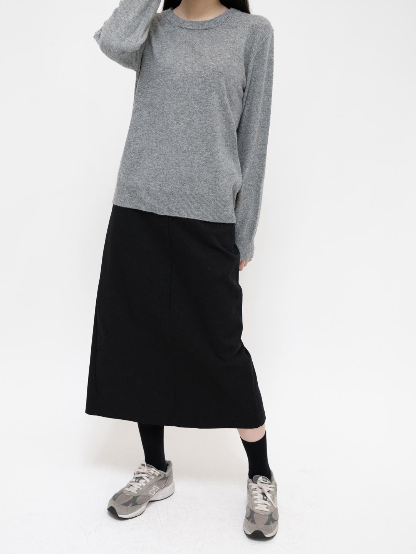 Spandex Blend Long Skirt