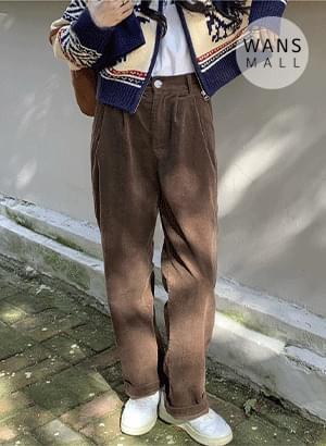 pt6587 chuo corduroy pintuck pants