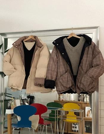 Classic Check Reversible Padded Jacket