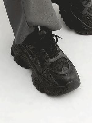 Mesh Combi Reflective Heel Ugly Sneakers 11117