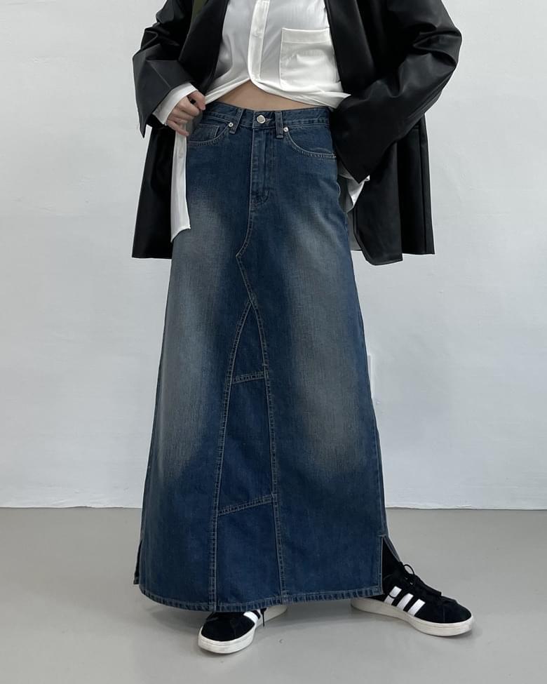 Vintage Maxi High Waist Long Skirt