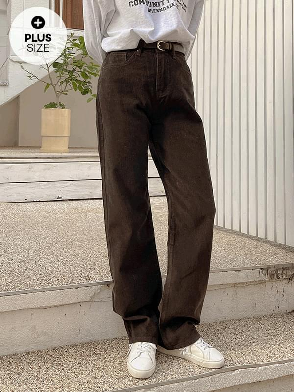 Just Good Straight Fit Corduroy Pants - 3color
