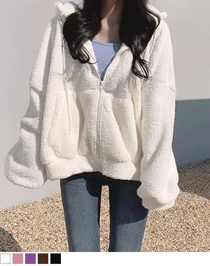 dealer fur hood zip-up