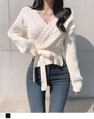 Cima Crop Wrap Knitwear