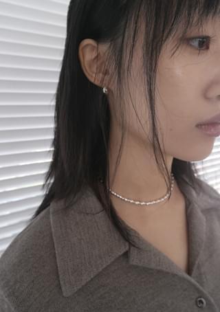 tear-drop petit silver earrings