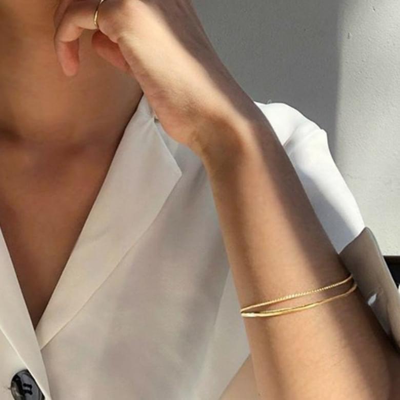 half lining bracelet