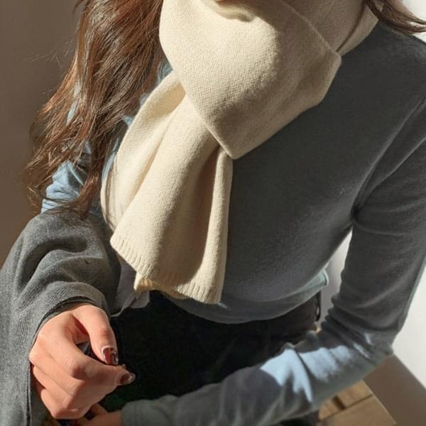 Winter plain basic scarf 4color