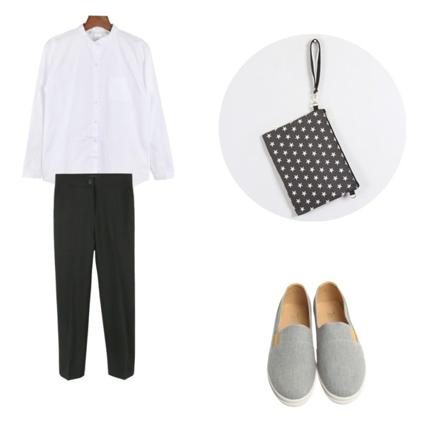 Rough & Detail Men lucia fabric slip-on, shoes,daily monday Little tie shirts,daily monday Semi slim-fit slacks[셈미슬림핏슬랙스,슬랙스,세미슬랙스,슬림핏슬랙스]등을 매치한 코디