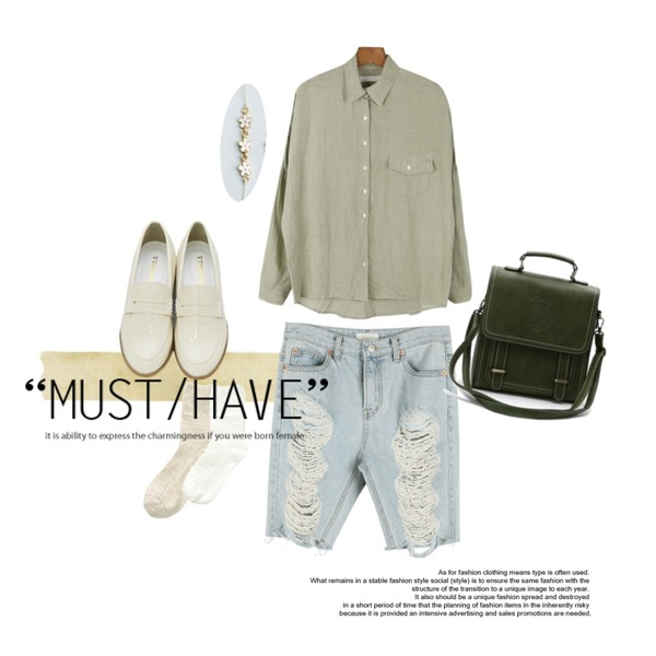 Untitled,daily monday Over fit linen shirt,Vintage Masking Tape등을 매치한 코디
