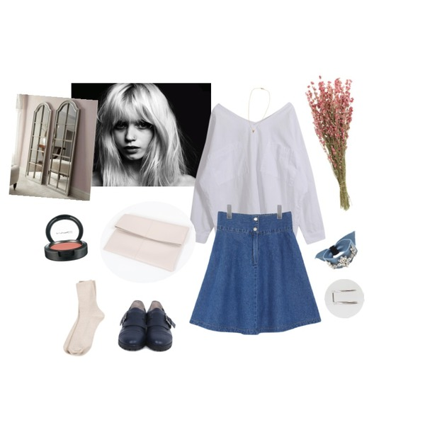 abbey-lee,daily monday Tintin buckle shoes,daily monday Simple Bar 2color Ring등을 매치한 코디