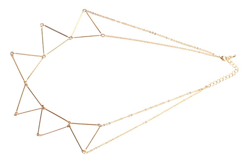 triangle, necklace