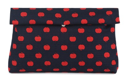 funky apple clutch, bag
