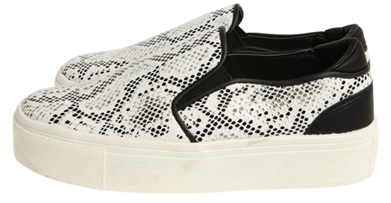 yuna snakeskin slip-on, shoes