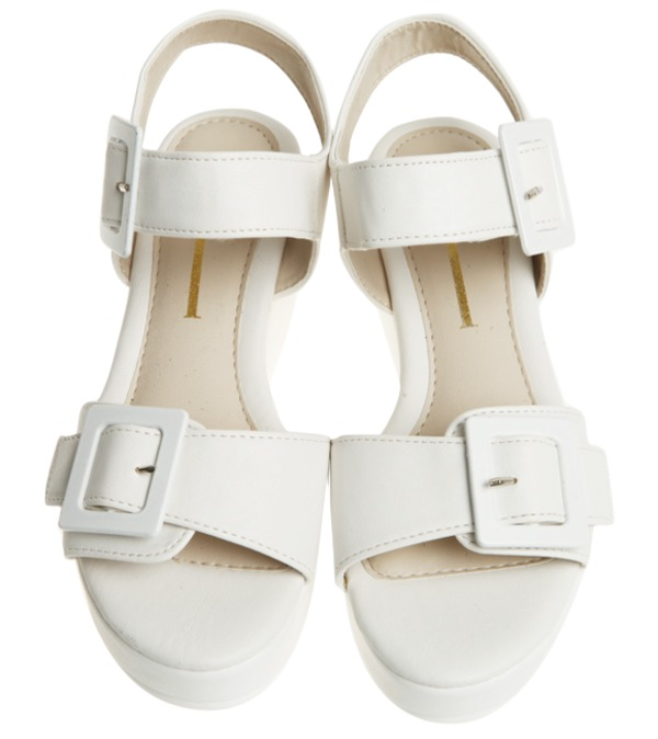 buckle platform sandal, shoes