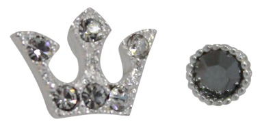 2set crown cubic, earring