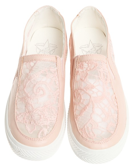 lace slip-on, shoes