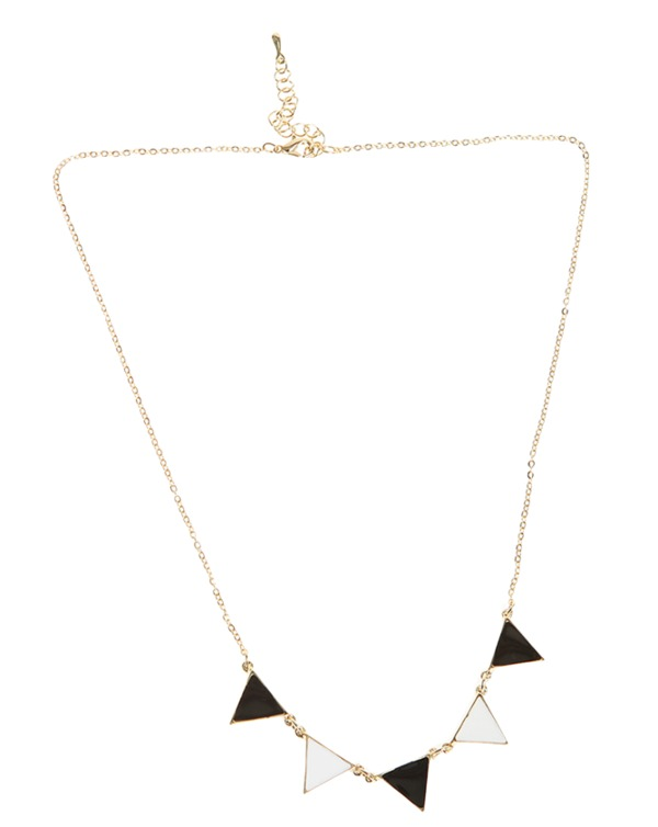 triangle coating, necklace