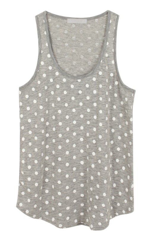 dot long sleeveless, t