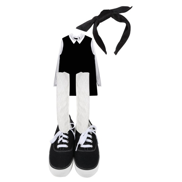 Rough & Detail classic, ops_black,daily monday All day basic sneakers,Rough & Detail lovely lace, socks_white등을 매치한 코디
