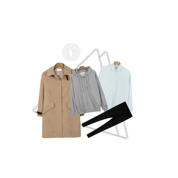 Untitled,daily monday Cool color shirt,daily monday Belt suede vibes coat[코트,자켓]등을 매치한 코디