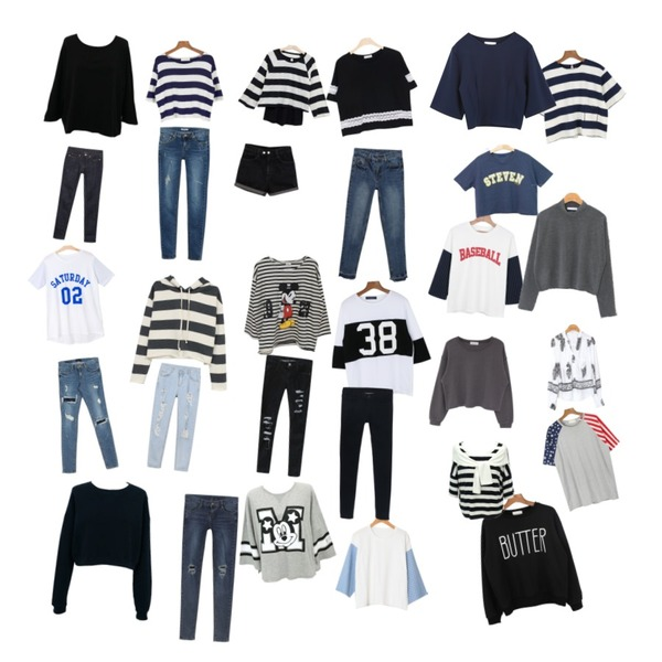 Rough & Detail hood stripe crop napping, t,biznshoe Simple man-to-man (2color),daily monday Baseball sports tee등을 매치한 코디