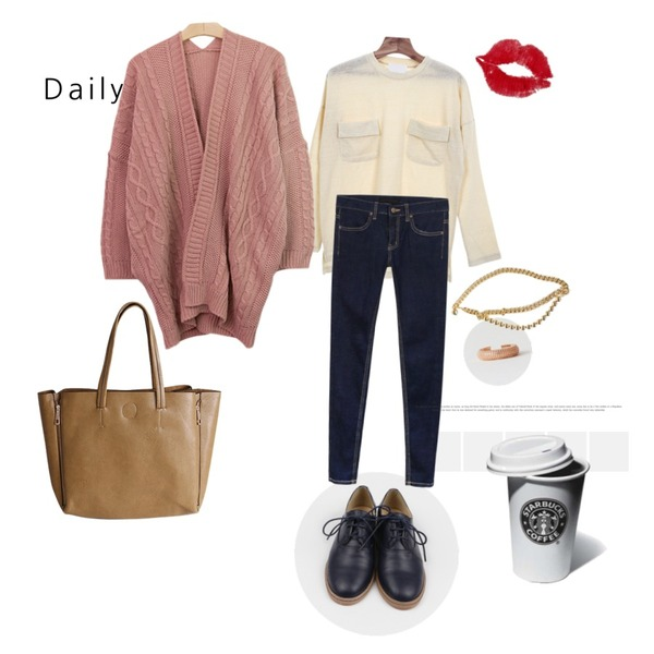 daily look,21,daily monday Fresh basic loafer등을 매치한 코디