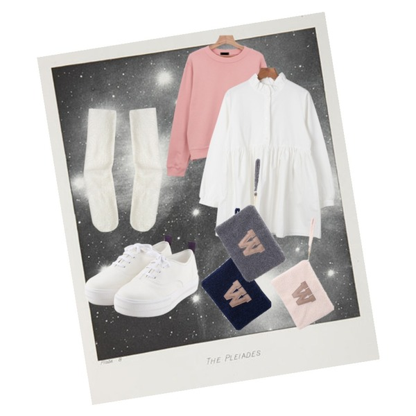 lights,daily monday Comfortable basic sneakers,daily monday Colours spring zipper mtm등을 매치한 코디