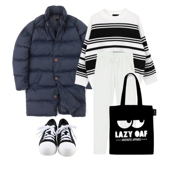 daily monday Round comfortable sneakers,Zemma World Ralph Padding Coat고객만족 100% 패딩코트!가격대비 미친퀄리티에요!!,biznshoe Stripe mix knit (2color)등을 매치한 코디