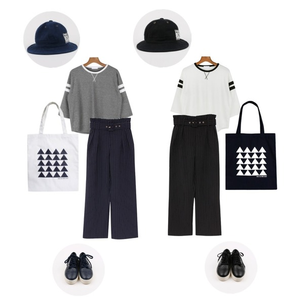 daily monday Liberal training set,daily monday Liberal training set,biznshoe Belt set stripe slacks (2color)등을 매치한 코디