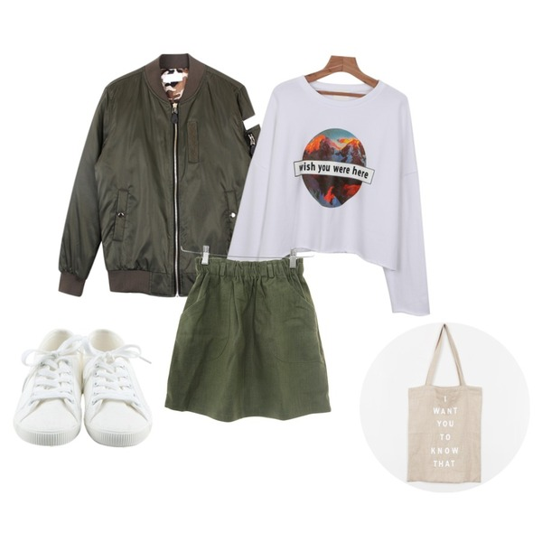 Zemma World (ZEMMA.W) 이자벨-린넨 (sk) [카키 당일출고!],biznshoe Patch air jumper (3color),daily monday Wish cutting man to man등을 매치한 코디