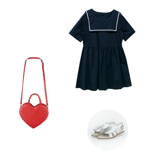 MIXXMIX MXM15SSHeart key bag (red),TODAY ME [shoes]루시퍼 슈즈,Rough & Detail toto, ops_navy등을 매치한 코디