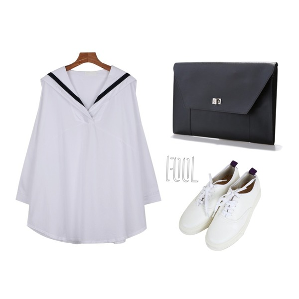 Reine Emilie Modern Clutch,Zemma World 마티스 (shoes),daily monday Sailor shirts one-piece등을 매치한 코디