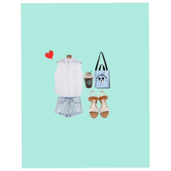 Emerald Background,Zemma World 후레쉬 (linen nb),daily monday Natural damage short pants등을 매치한 코디