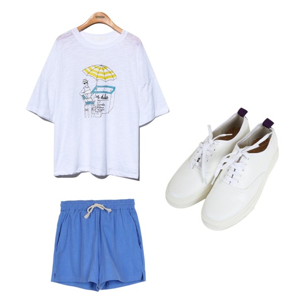 Zemma World 마티스 (shoes),daily monday String cotton training pants,Reine Paradise Uncle Box Tee등을 매치한 코디