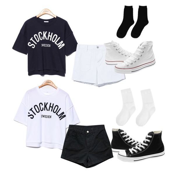 Reine Fly Pocket Shorts Pants,Reine Stockholm Unique Tee,Reine Stockholm Unique Tee등을 매치한 코디