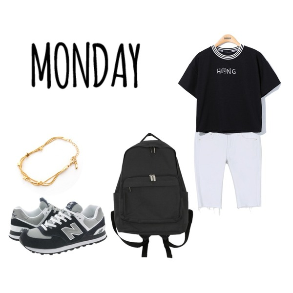 Player [정품]뉴발란스 M574BGS 남은 스카치 (NEW BALANCE M574BGS) M574BGS  신발  운동화 뉴발란스 ,Reine Hong Sister Tee,daily monday Basic cutting 5-pants등을 매치한 코디