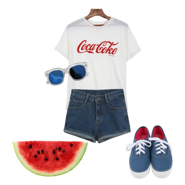 daily monday All day basic sneakers,TODAY ME [short pants]쇼잉 숏츠,Zemma World 코크 (t)등을 매치한 코디
