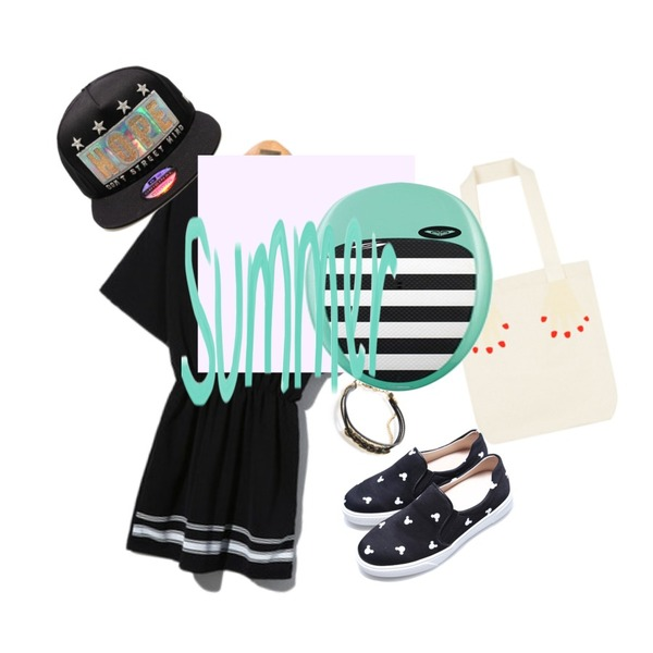 Reine Shadow Mikey Slip-On,Reine Brooklyn Cozy Onepiece,MIXXMIX 콜리 핸드 에코백등을 매치한 코디