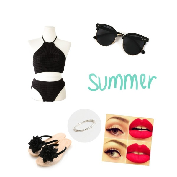 Reine Rose Bunch Slippers,common unique [SWIMSUIT] URBAN KNIT BIKINI,daily monday Silver point crystal ring(silver 925)등을 매치한 코디