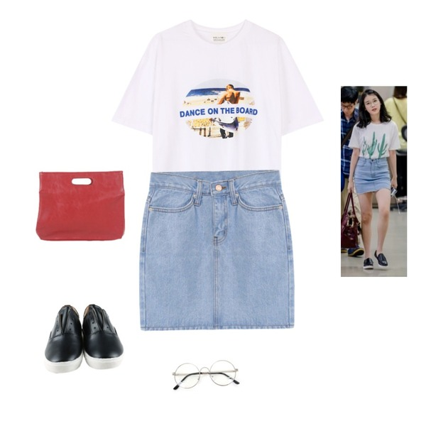 Zemma World 둥글게 (glasses) ,-,biznshoe Dance tee (2color)등을 매치한 코디