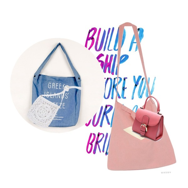 type,Rough & Detail cover echo, bag_pink,daily monday Breeze casual bag등을 매치한 코디