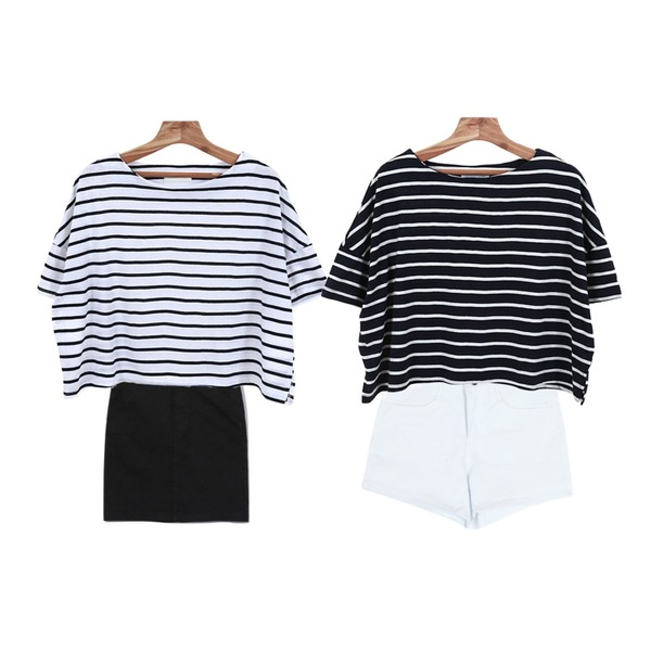 Reine Campanula 5-Length Skirt,Zemma World 나인스 (stripe t),common unique [BOTTOM] KEITIN SHORTS등을 매치한 코디