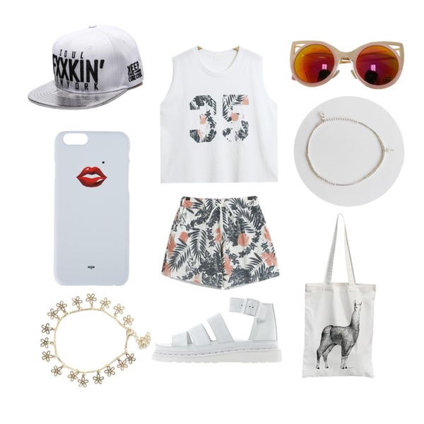 Rough & Detail sharp cat mirror, sunglasses_pink,daily monday Silver pendant anklets(silver 925),TODAY ME [SET]아르엔 SET등을 매치한 코디