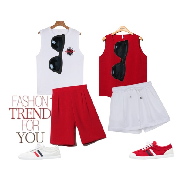 Untitled,daily monday Daily banding shorts,Reine Classic Color Sleeveless Tee등을 매치한 코디