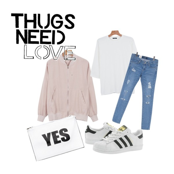 daily monday Modern linen blouson,Reine I Say Yes Bag,daily monday Daily color 7-tee등을 매치한 코디
