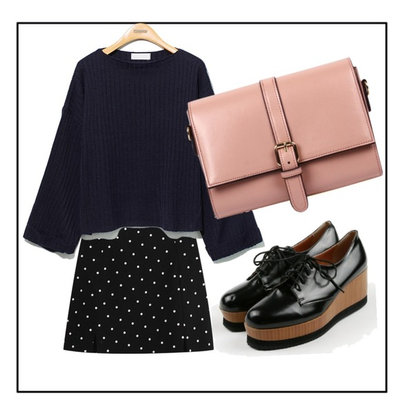 Black Frame,daily monday Simple wood middle loafer,TODAY ME [skirt]카푸치노 스커트등을 매치한 코디
