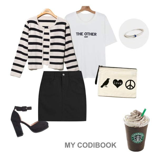 starbucks,AIN suede strap heel (2 colors),daily monday The other day tee등을 매치한 코디